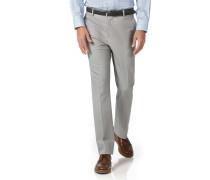 Bügelfreie Slim Fit Stretch-Hose in Silber