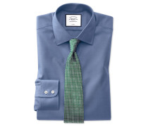 Extra Slim Fit Pinpoint-Oxfordhemd in Mittelblau