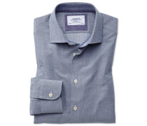 Classic Fit Business-Casual Hemd in MarineBlau