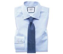 Classic Fit Twill-Hemd in Weiß und Himmelblau