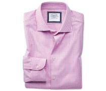 Classic Fit Business-Casual Hemd in Rosa und Weiß