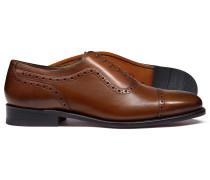Rahmengenähte Budapester Oxford-Schuhe in Braun