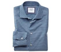 Classic Fit Business-Casual Hemd in Marineblau
