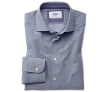Slim Fit Business-Casual Hemd in MarineBlau