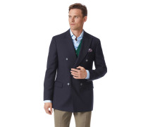 Slim Fit Doppelreiher-Blazer aus Wolle