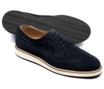 Leichte Derby-Schuhe aus Veloursleder