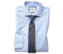 Bügelfreies Super Slim Fit Hemd in Blau