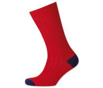 Rippstrick Socken in Rot