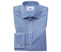 Extra Slim Fit Hemd in Königsblau mit Hahnentritt