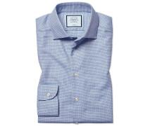 Extra Slim Fit Hemd mit Natural Stretch in Blau