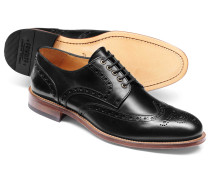 Budapester Derby-Schuhe mit Ösen in Schwarz