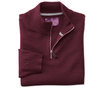 Kaschmir Pullover mit Reißverschluss-Kragen