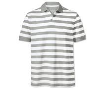 Piqué-Polohemd in Grauen und Weißen Streifen