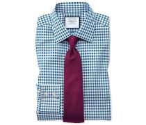 Bügelfreies Classic Fit Hemd in Blaugrün