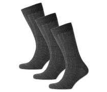 3er Pack dicke Wollsocken in Blau