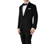 Slim Fit Smokingsakko mit Schalkragen in Schwarz