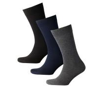 3er-Pack Socken mit hohem Baumwollanteil in Bunt