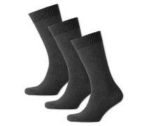 3er Pack Baumwollsocken in Grau