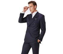 Slim Fit Doppelreiher Businessanzugsakko