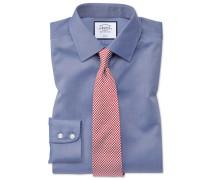 Classic Fit Twill-Hemd in Mittelblau