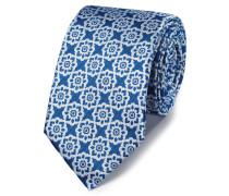 Klassische Krawatte mit Blumenmuster in kräftigem