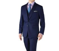 Slim Fit Business Anzug Sakko aus Twill