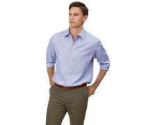 Vorgewaschenes Classic Fit Hemd aus Strukturgewebe