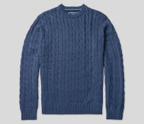 Pullover aus Pima-Baumwolle mit Zopfmuster - Jeans
