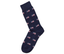 Socken mit US-Flaggen-Design in Marineblau