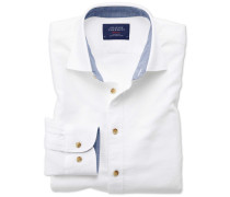 Classic Fit Hemd in gewaschenem Weiß