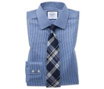 Bügelfreies Slim Fit Hemd in Königsblau