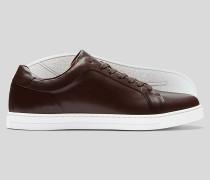 Leder-Sneaker - Braun