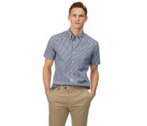 Vorgewaschenes Popeline-Kurzarmhemd bügelfreies Slim