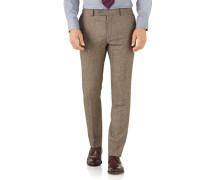 Slim Fit Serge Luxus Anzug Hose in Gelbbraun
