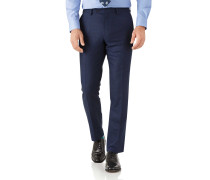 Slim Fit Businessanzughose aus Flanell