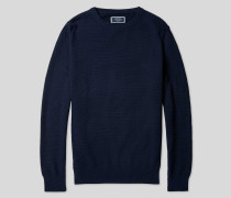 Pullover aus Baumwolle mit Rundhals - Marineblau