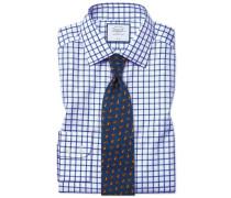Bügelfreies Slim Fit Twill-Hemd in Königsblau