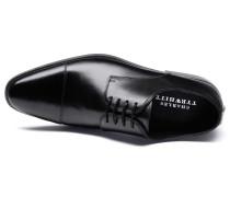 Dutson Derby Schuh mit Zehenkappe in Schwarz
