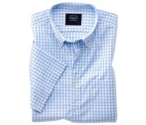 Vorgewaschenes kurzärmeliges Hemd Slim Fit