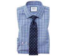 Extra Slim Fit Hemd in Blau und Grün