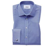 Bügelfreies Classic Fit Hemd in Blau
