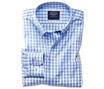 Extra Slim Fit Popeline-Hemd in Himmelblau