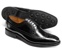 Goodyear rahmengenähte Budapester Derby Leder Schuhe