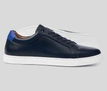 Leder-Sneaker - Marineblau