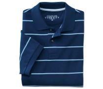 Piqué Poloshirt in Blauen und Blau Streifen