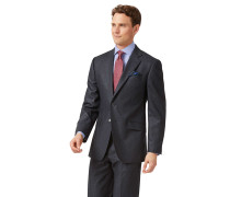Classic Fit Anzugjacke aus Flanell