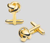 Knoten-Manschettenknöpfe - Gold