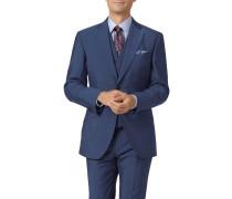 Italienisches Slim Fit Luxusanzugsakko in Blau