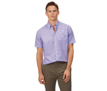 Vorgewaschenes Popeline-Kurzarmhemd bügelfreies Classic