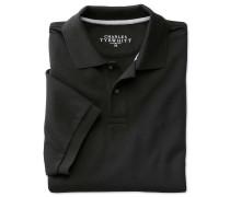 Piqué Poloshirt in Schwarz